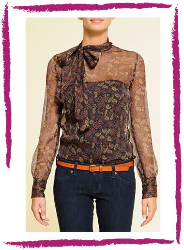 ... parece una blusa combinable con jeans, pantalones de vestir y faldas