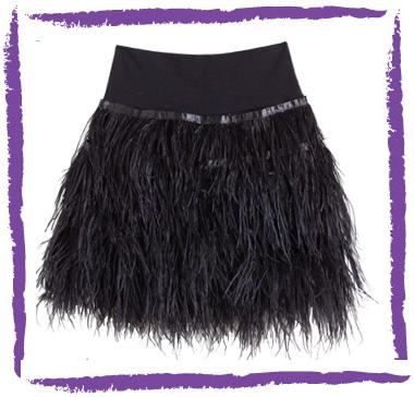 Un DIY: falda de plumas