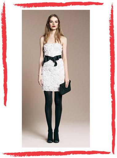 Vestidos Blancos Medias Negras Chica Elegante