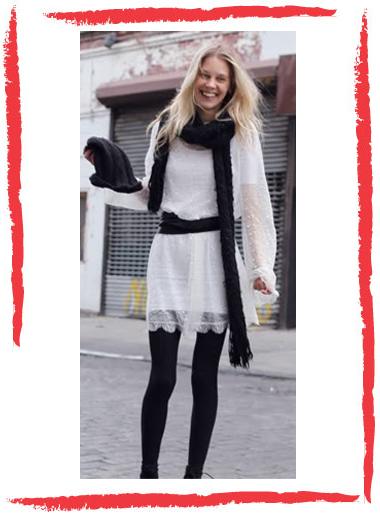 Imagenes de vestidos con medias negras