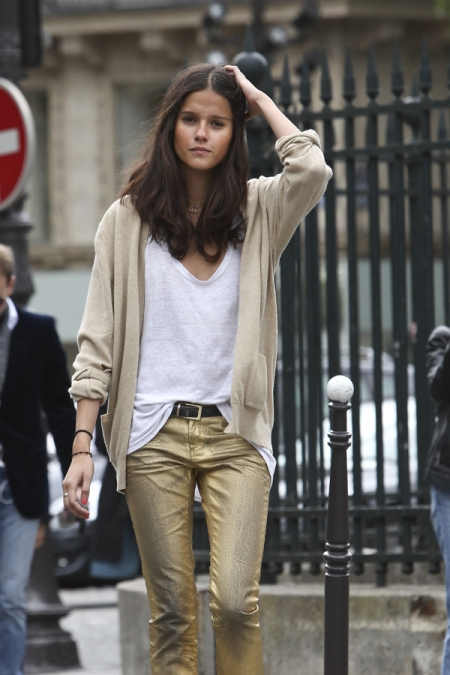 Un Look De Oro Pantalones Dorados By Zara